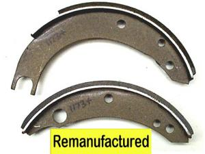Holden FJ Bonded Front Brake Shoe Set 228.6mm Diam ( 9.00 )