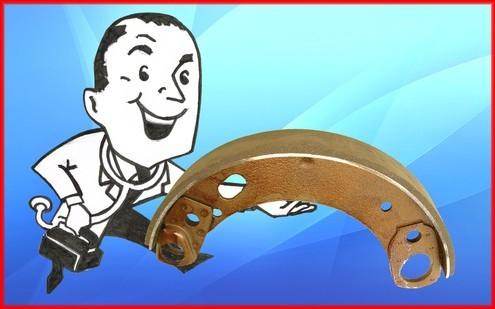 Brake shoes - new and bonded