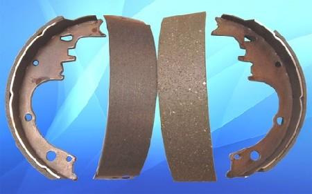 Set of brake shoes
