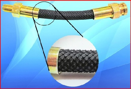 An example of old style snake skin rubber hose